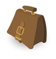 Briefcase brown cartoon vector image vector image