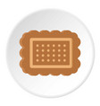 brown cookie icon circle vector image vector image