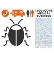 bug icon with 1300 medical business icons vector image vector image