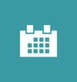 calendar icon simple sign vector image