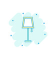 cartoon lamp furniture icon in comic style lamp vector image vector image