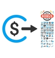 Cash Out Icon With 2017 Year Bonus Symbols vector image