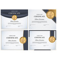 certificate template background collection set vector image vector image