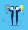 colleagues thinking and planning ideas vector image vector image