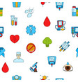 colored diabetes icons pattern or vector image