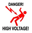 Danger High Voltage 1 vector image vector image
