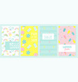 design banner and card for summer season abstract vector image