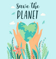 earth day save nature design template vector image vector image