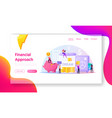 finance budget landing page template tiny vector image