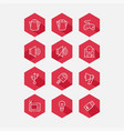 flat icon set collection high quality outline vector image