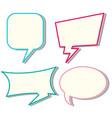 Four designs of speech bubbles