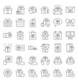 gift box or present box icon thin line vector image vector image