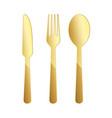 gold restaurant symbol vector image