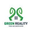 green garden home logo vector image vector image