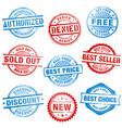 grunge sales stamps vector image
