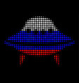 halftone russian space ship icon vector image vector image
