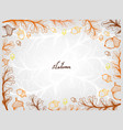 hand drawn frame of oak leaves and fruits vector image vector image