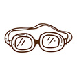 Hand Drawn Safety Glasses vector image vector image