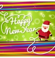 Happy New Year greeting card On bright background vector image vector image