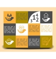 Infographic template insurance company vector image vector image