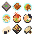 japan food tasty cartoon icon asian set menu vector image