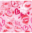 lips hearts seaml 380 vector image