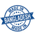 Made in bangladesh blue round vintage stamp vector image