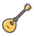 mandolin filled outline icon music and instrument vector image vector image