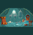 medieval prison cell game background vector image