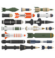 military rocket weapon ballistic weapons nuclear vector image