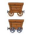 mining carts set vector image