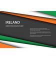 modern background with irish colors and grey free vector image vector image