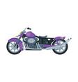 motorcycle motor vehicle transport purple vector image