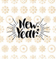 new year lettering design on snowflakes vector image vector image