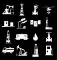 oil and petroleum icon set vector image vector image