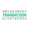 online transactions minimal infographic banner vector image vector image