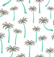 Pattern of palm trees vector image vector image