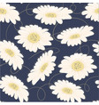 pattern seamless hand drawn white daisy flower vector image vector image
