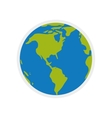 planet world earth sphere icon graphic vector image vector image