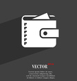 Purse symbol Flat modern web design with long vector image vector image