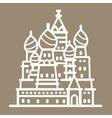 russia landmark building line art vector image