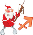 Santa Claus Astrological Sign vector image