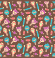 seamless pattern cute style ice cream vector image vector image