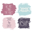 Set of 4 decorative wedding and romantic elements vector image vector image