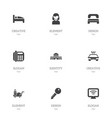 set of 9 editable hotel icons includes symbols vector image