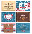 set posters 4 july independence day holiday of usa vector image vector image