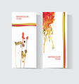 set two colorful business cards templates vector image vector image