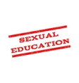 Sexual Education Watermark Stamp vector image vector image