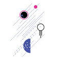 space and planets abstract flat style geometric vector image