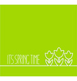 Springtime card on green background vector image vector image
